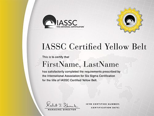 Lean Six Sigma Yellow Belt Exam | IASSC Certified Yellow Belt (ICYB ...