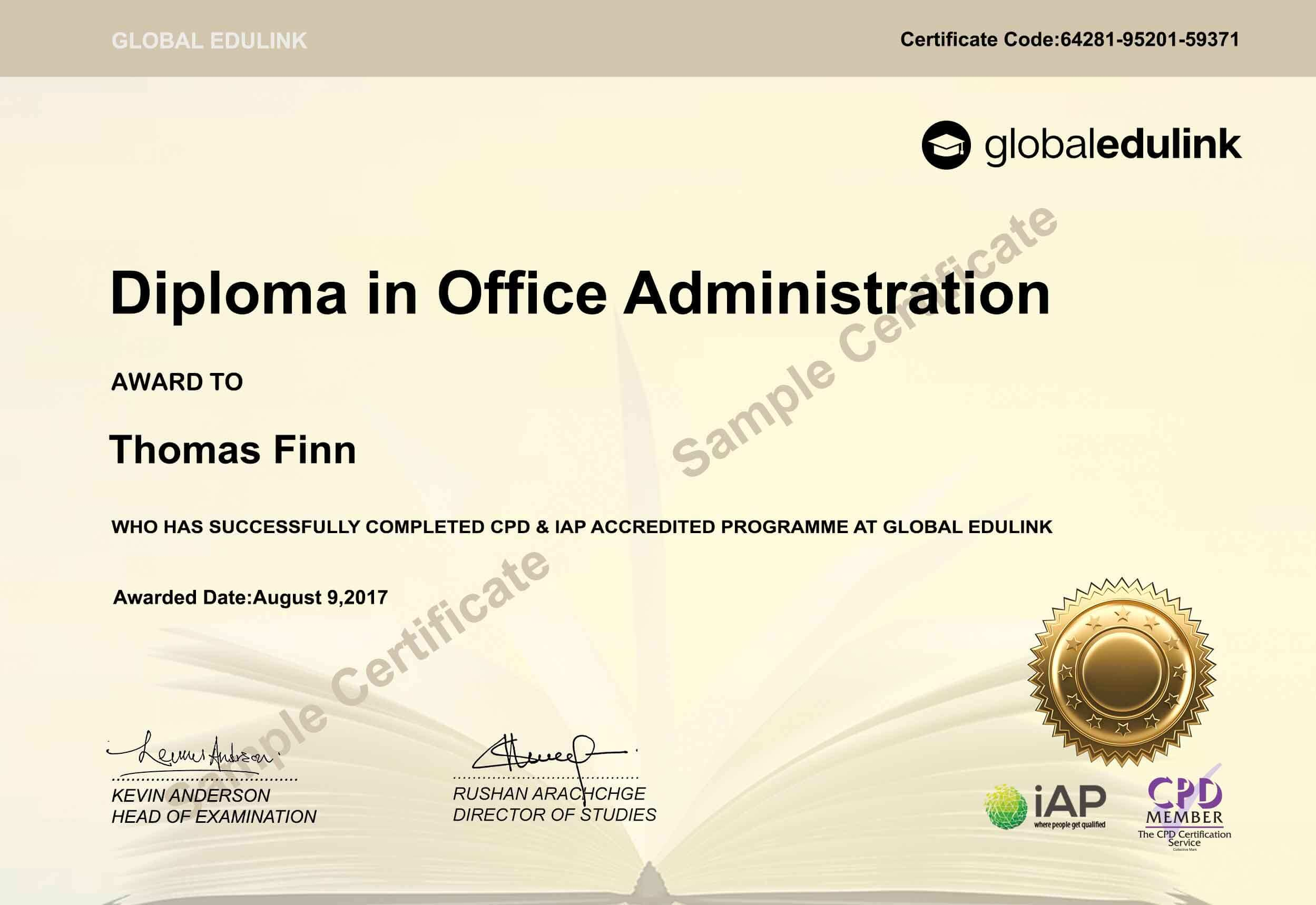 Certificate And Accredited
