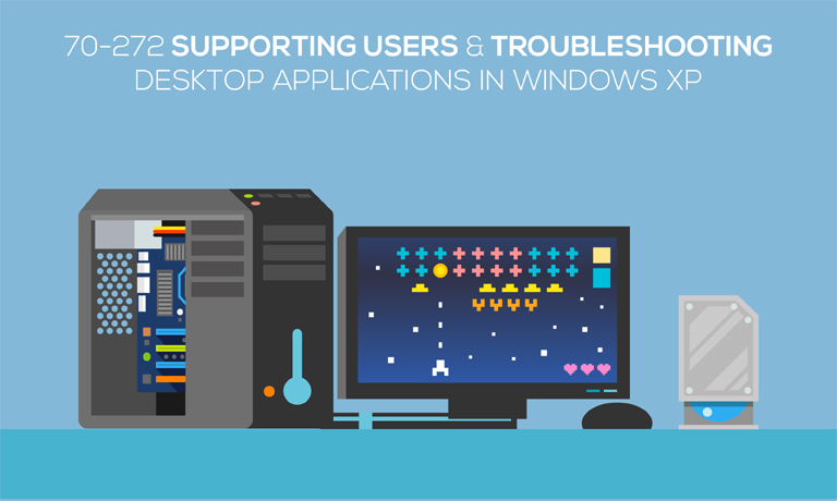 Supporting Users and Troubleshooting Desktop Applications in Windows XP v70-272 course