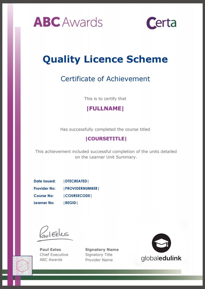 Endorsed Certificate