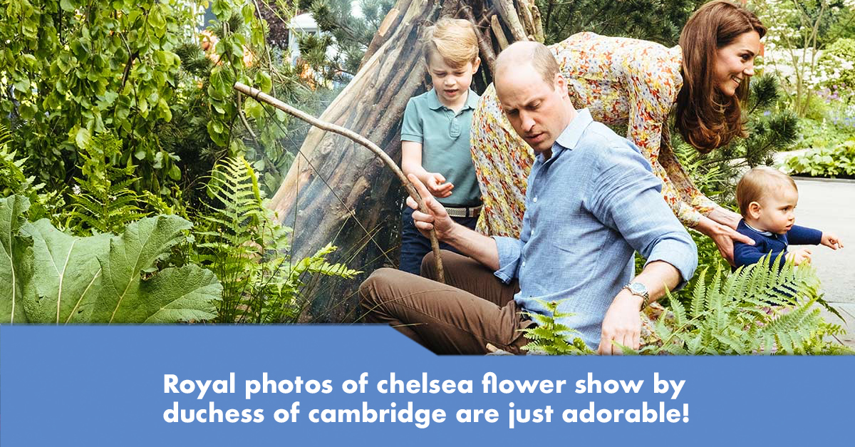 Duke and Duchess of Cambridge and their children went for a spend-the-day at their garden